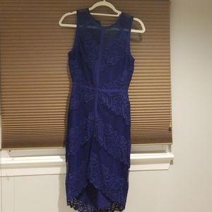 Adelyn Rae blue lace dress